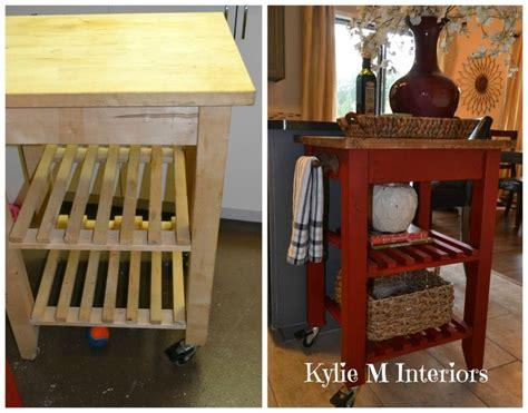 kitchen trolley ideas ikea bekvam kitchen island cart makeover with sloan