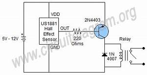 hall effect sensor switch circuit diagram With hall effect switch