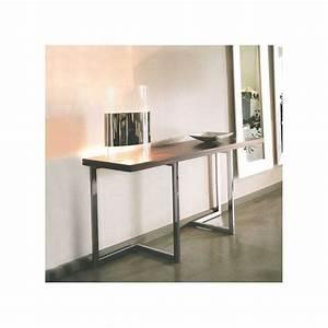 Console Transformable En Table : table console modulable en bois et m tal giravolta r f ~ Teatrodelosmanantiales.com Idées de Décoration