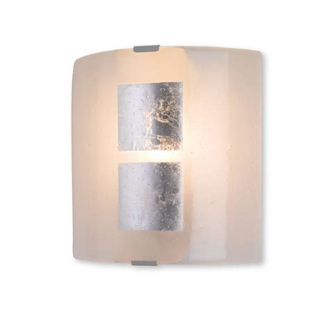 4251si murano glass wall light in silver leaf on murano glass