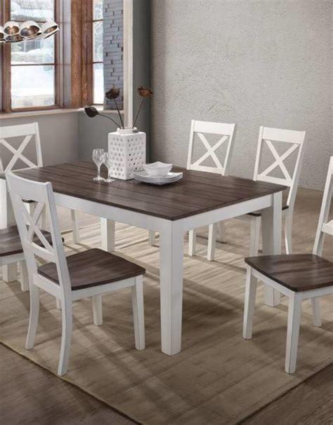 la carte rectangular farmhouse dining table   chairs