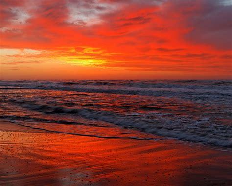 Download Ocean, 5k, 4k Wallpaper, Sea, Sunset, Shore