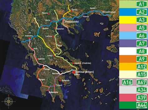 greek motorways autobahnen mainland mapsofnet