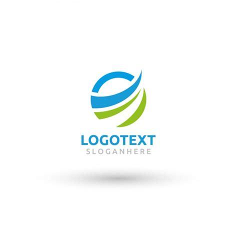 logo design template circular wave logo template vector free