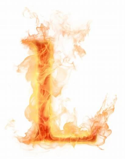Letter Burning Burn Fire Psd Letters Transparent