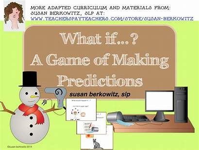 Making Predictions Speech Language Questions Would Therapy