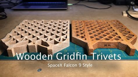 spacex style wooden gridfin trivets cnc project