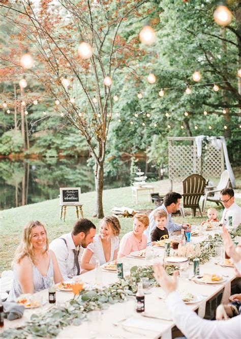 inspiring  backyard wedding purewow