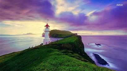 Lighthouse Wallpapers Amazing Mykines Faroe Sky Desktop