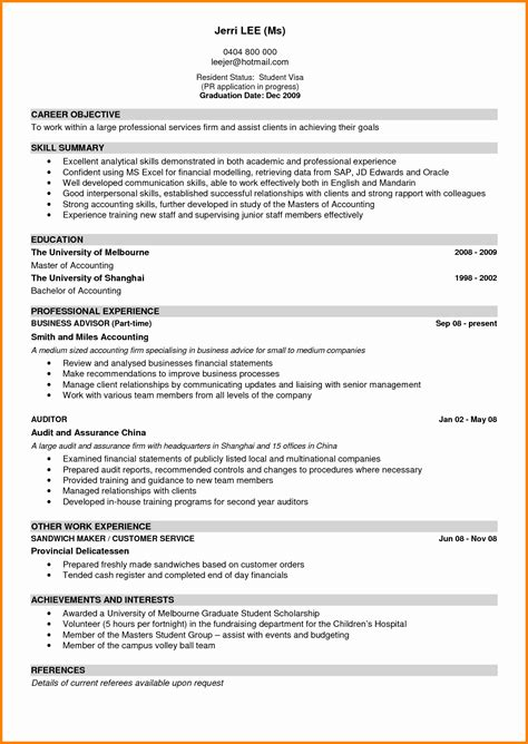Exle Of A Great Cv by 8 Exle Of Great Cv Penn Working Papers