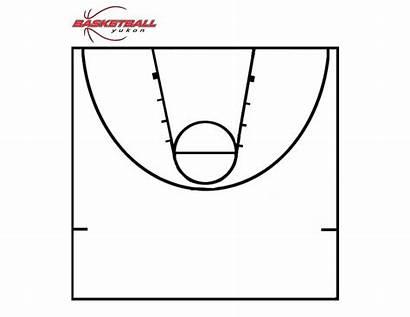 Basketball Court Half Diagram Printable Clipart Diagrams