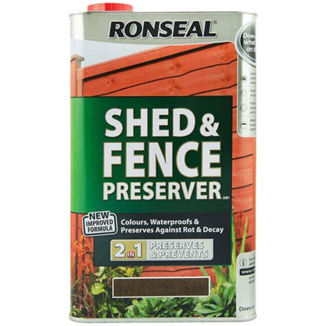 Shed Treatment Products by Ronseal Shed Fence Preserver Protects Colours Wood