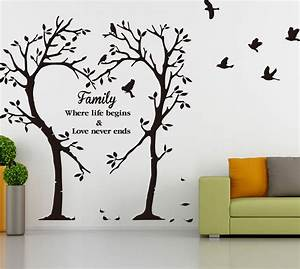 Family Inspirational Love Tree Wall Art Sticker, Wall
