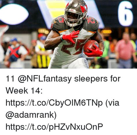 week 6 nfl sleepers 11 sleepers for week 14 httpstcocbyoim6tnp via