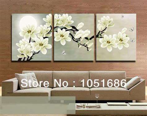 4 Hands Home Decor : High Quality Hand Painted 3 Piece Wall Art Tree Branches