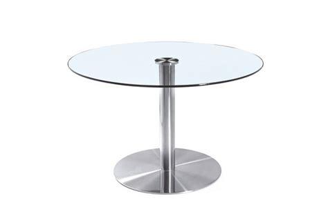 glastisch rund 80 cm besprechungstisch basel 800 edelstahl mit glasplatte glastisch rund neu
