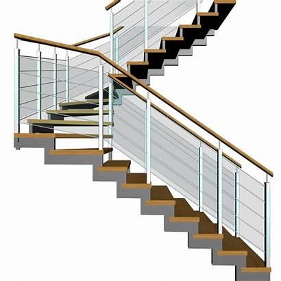 Landing Stairs Half 3d Decorate