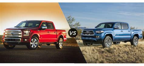 toyota tacoma vs tundra ford f150 vs tacoma autos weblog