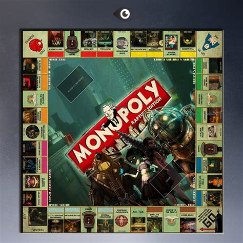 high quality bioshock monopoly board posters painting