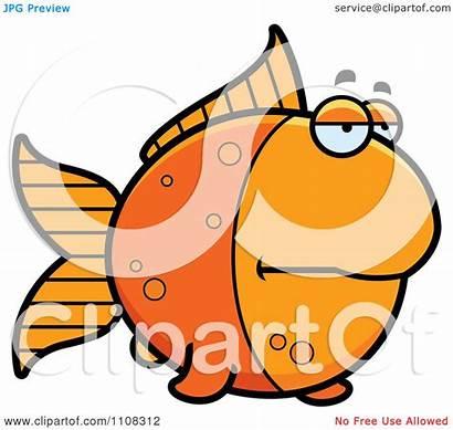 Angry Bored Clipart Goldfish Illustration Royalty Thoman