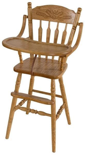 farmhouse wooden high chair  dutchcrafters amish furniture