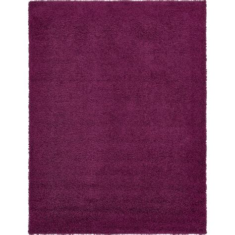unique loom solid shag eggplant purple 10 ft x 13 ft area rug 3136703 the home depot