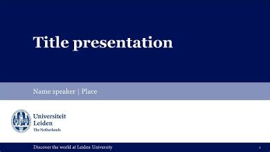 powerpoint templates leiden university