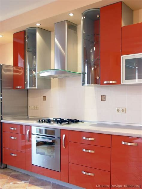 66 Best Images About Orange Kitchens On Pinterest  Modern