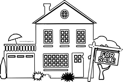 sale home homes coloring page wecoloringpagecom
