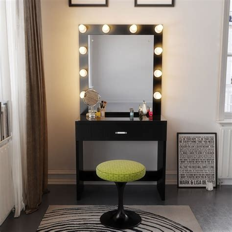 desk mirror with lights vanity table with lights amusing vanity table with lights