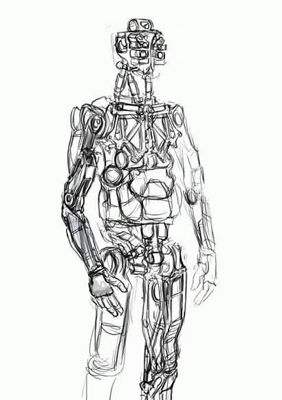 Process Cyberpunk Concept Character Skul4aface Anatomy Beck