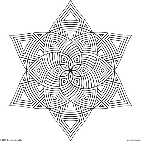 designs to color coloring page shape geometric designs coloring page for