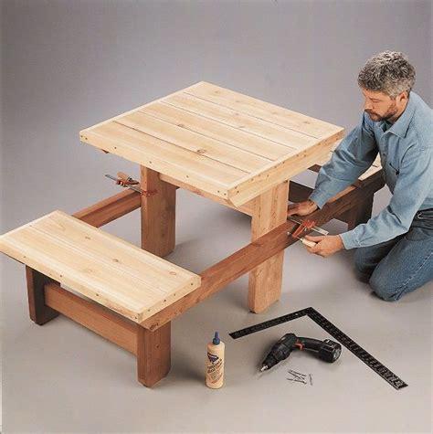 diy picnic table    equipment kinder