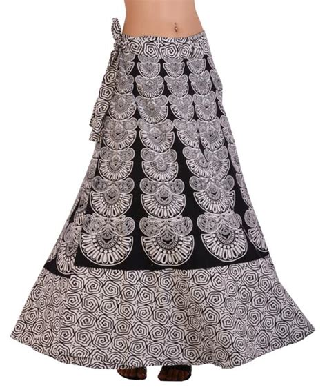 Buy New Rajasthani Print Long Cotton Wrap Skirts from ...