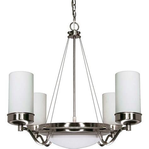 Glass Shades For Chandelier by Glomar 6 Light Brushed Nickel Chandelier With Satin