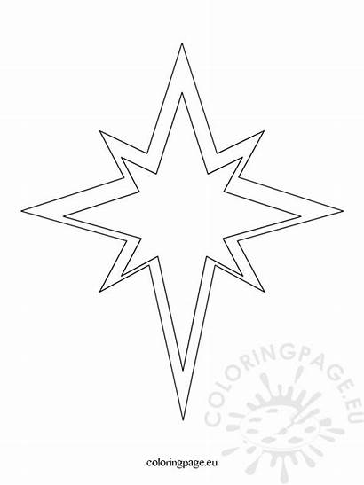 Template Star Christmas Coloring Pages Templates Coloringpage