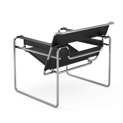 poltrona wassily knoll poltrona wassily by marcel breuer cuoio nero