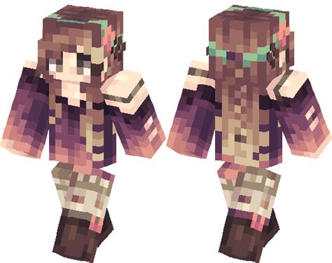 kawaii girl minecraft skin minecraft hub