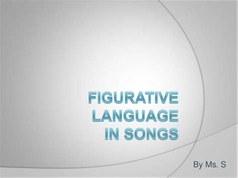 Figurative Language In Songs