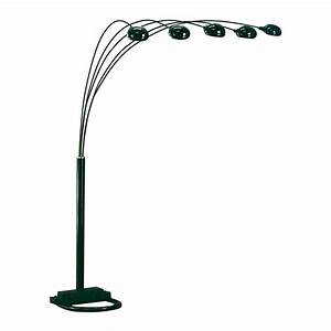 bernards 6015 black spider lamp with 3 way switch atg stores With floor lamp with 3 spotlights black