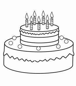 Dessin Gateau Anniversaire : coloriage gateau d anniversaire ~ Melissatoandfro.com Idées de Décoration