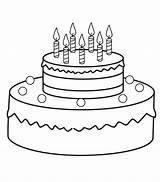 Birthday Coloring Cake Preschool Crafts Kindergarten Worksheets sketch template