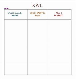 kwl chart template word doc pictures to pin on pinterest With kwl chart template word document