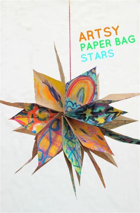 artsy paper bag stars paper bag crafts art activities
