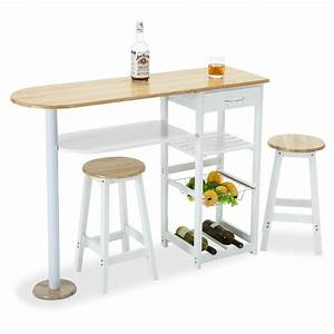 Kitchen Island Cart Trolley Portable Rolling Storage Table