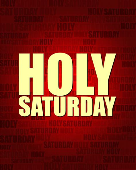 holy saturday celebrated
