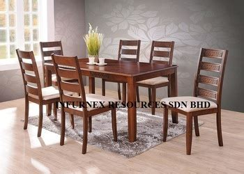 solid rubberwood dining set 1 6 dining table dining