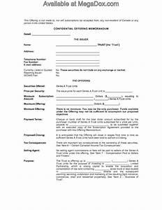 Alberta offering memorandum for real estate investment for Real estate offering memorandum template