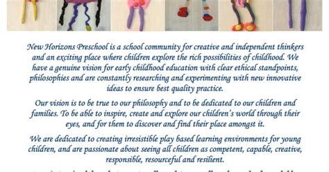 our mission statement new horizons preschool ece 373 | 20ebf18a137c82788c95d1d8883174f3