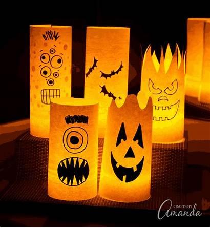 Halloween Paper Luminaries Own Craft Draw Pattern